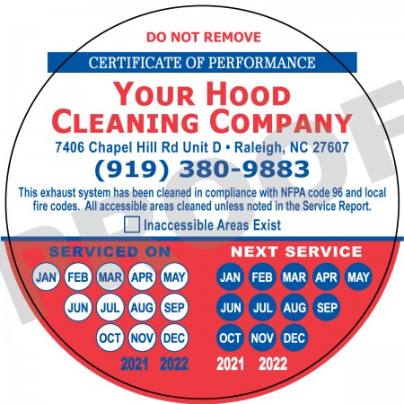 "Full Color 4"" Circle Hood Sticker #1"