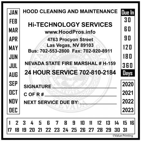 Nevada Hood Sticker #2 (4 x 4)