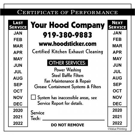Plain Vinyl or Foil Hood Sticker #21 (4 x 4)
