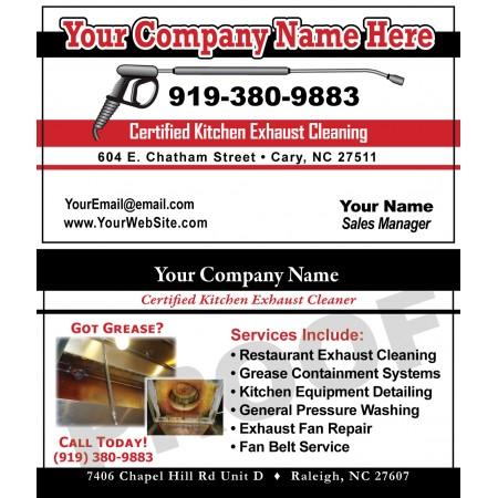Hood Cleaner Business Cards #3