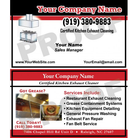 Hood Cleaner Business Cards #6