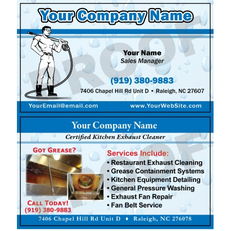 Hood Cleaner Business Cards #8