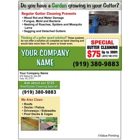 Gutter Cleaning Postcard #2