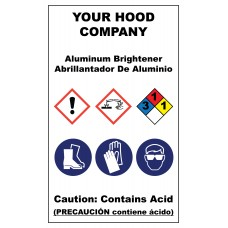 Aluminum Brightener Hazardous Material Sticker (3 x 5)