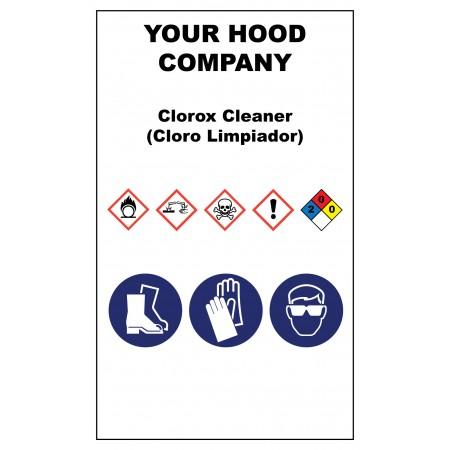 Clorox Cleaner Hazardous Material Sticker (3 x 5)