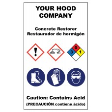 Concrete Restorer Plastic Hazardous Material Sticker (3 x 5)