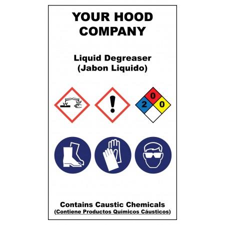 Liquid Degrease Adhesive Hazardous Material Sticker (3 x 5)