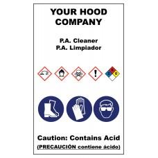 PA Cleaner Hazardous Material Sticker (3 x 5)