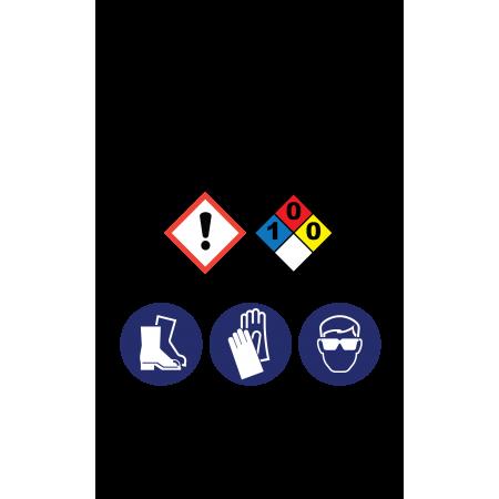 Powder Detergent Hazardous Material Sticker (3 x 5)