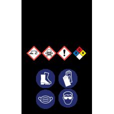 Sanitizer Hazardous Material Sticker (3 x 5)
