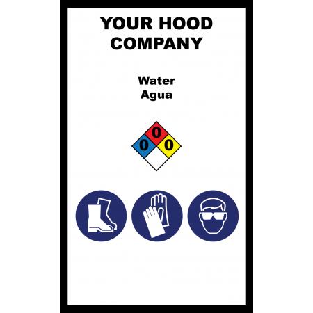 Water Hazardous Material Sticker (3 x 5)