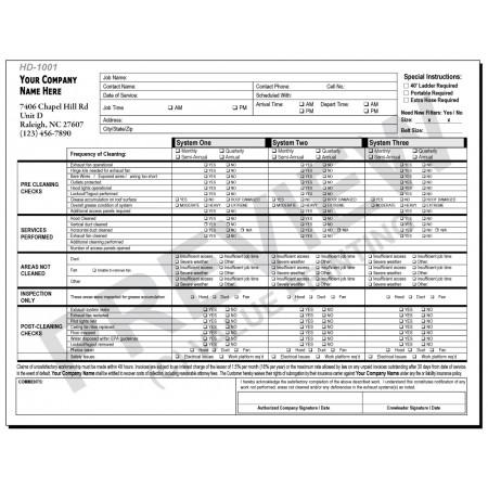 HD-1001 IKECA Hood Cleaning Report