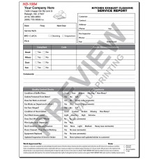 HD-1004 Kitchen Exhaust Cleaning Service Report